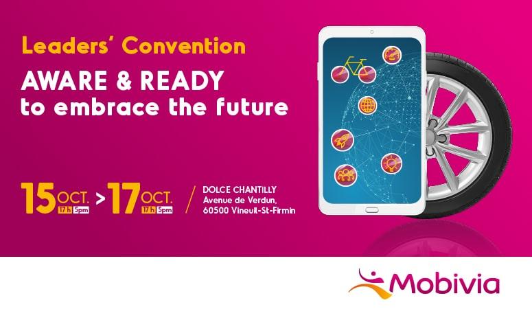 MOBIVIA : Création du visuel de la convention annuelle des Leaders Mobivia - Agence Linéal