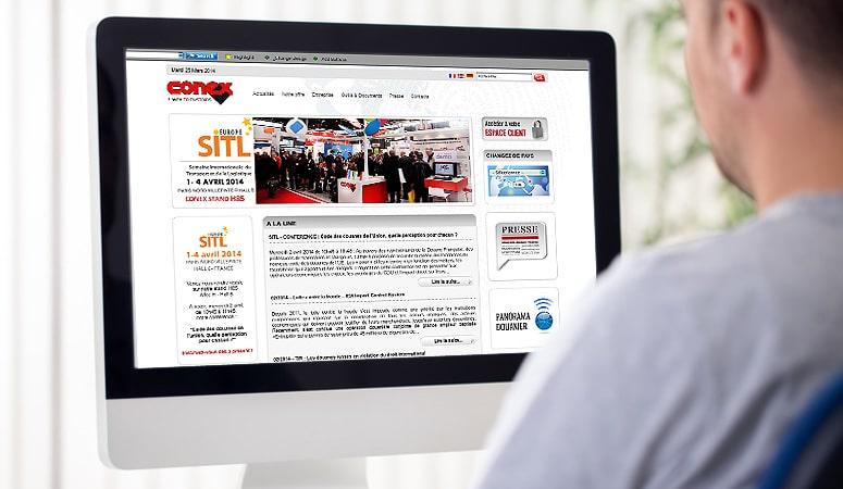 Création : logo – charte graphique – édition – plaquettes – stands – signalétique pour CONEX – Agence Linéal