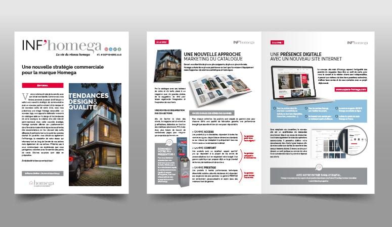 HOMEGA : Définition d'un nouveau positionnement résolument design et création des outils de lancement et promotion print et digitaux - Agence Linéal
