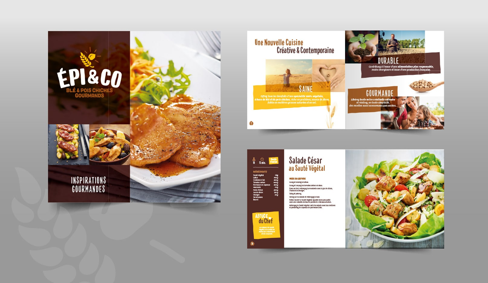 EPI AND CO : Réalisation des supports de présentation et promotion de la nouvelle gamme végétale développée par Tereos - Agence Linéal
