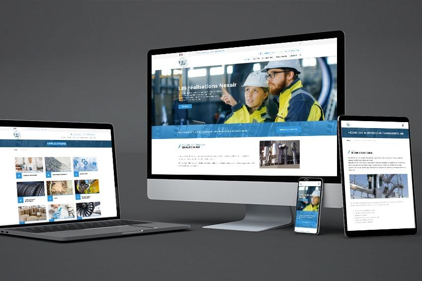 Création : site web pour NEXAIR – Agence Linéal