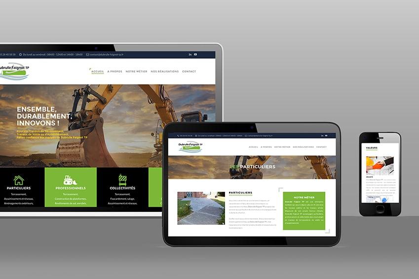 Création : site web pour DUBRULLE – Agence Linéal