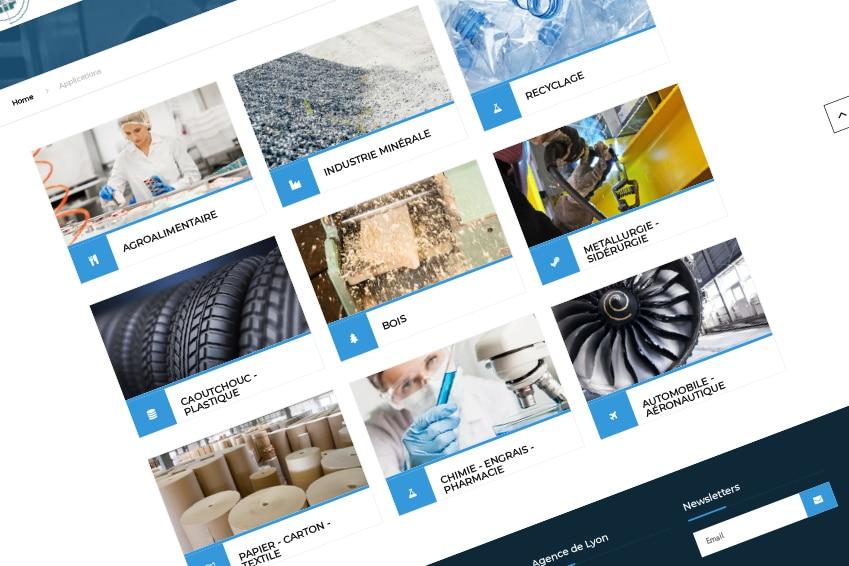 Création : site web pour NEXAIR : Agence Linéal