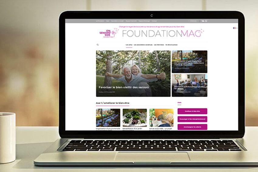 Création : Site web – Blog – Espace-collaboratif – Espace-ressources – Multilingue pour la FONDATION DAMARTEX – Agence Linéal