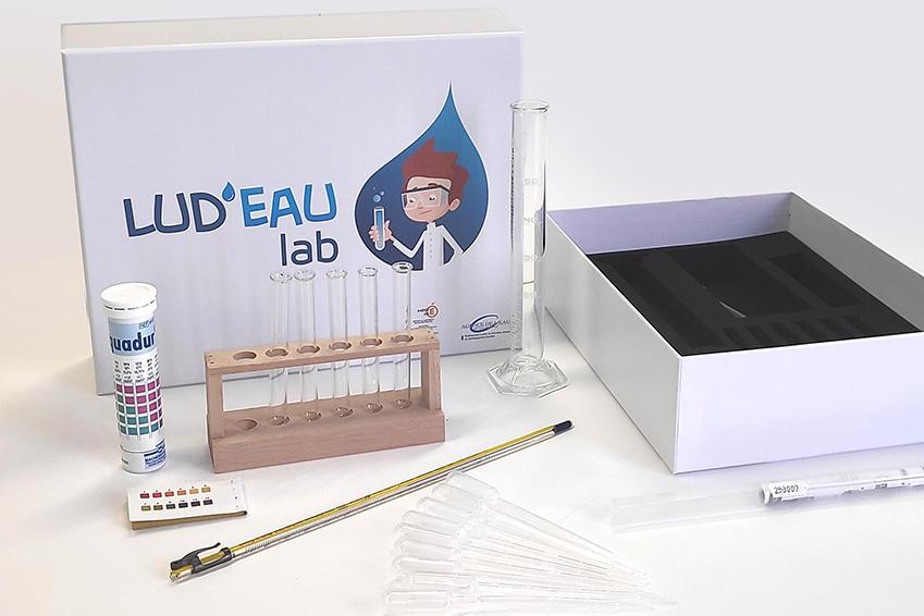 Création : Boite de jeux éducatif LUD'EAU THEQUE pour l'AGENCE DE L'EAU : Agence Linéal