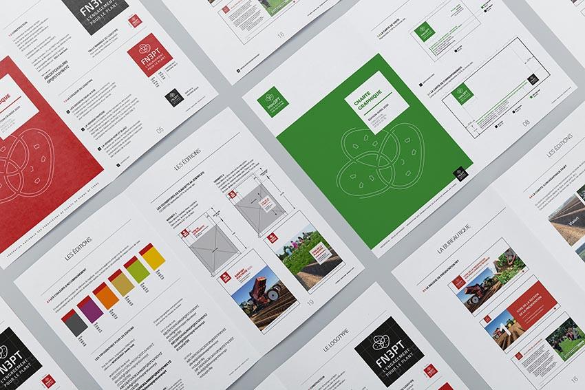 Création : Logo – Plaquettes – Powerpoint – Supports bureautiques - Charte graphique pour FN3PT : Agence Linéal