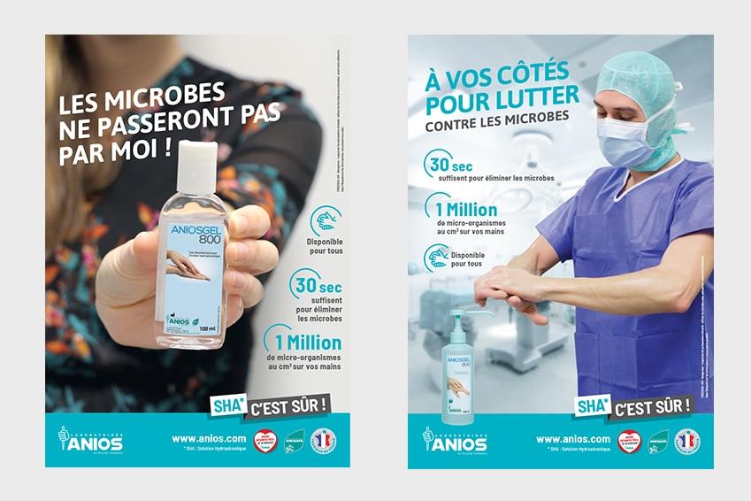 Création : Affiches pour ANIOS : Agence Linéal