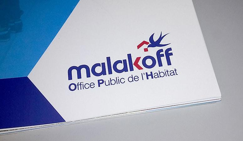 Création : logo – charte graphique – rapport pour MALAKOFF HABITAT – Agence Linéal