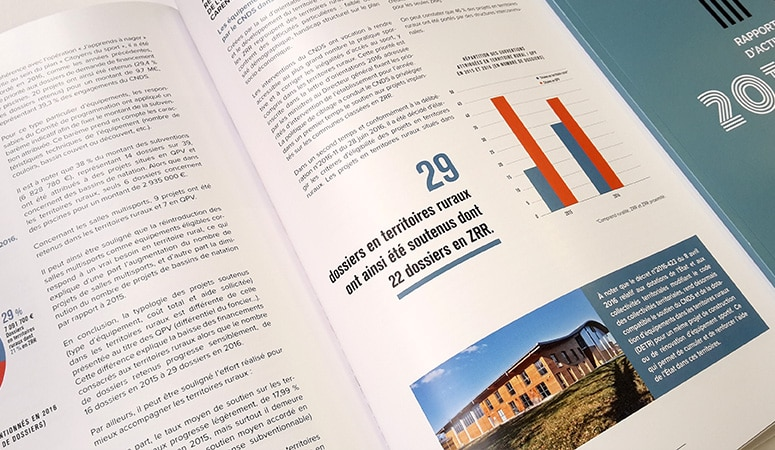 CNDS : Élaboration de la série de rapports d'activité - Agence Linéal