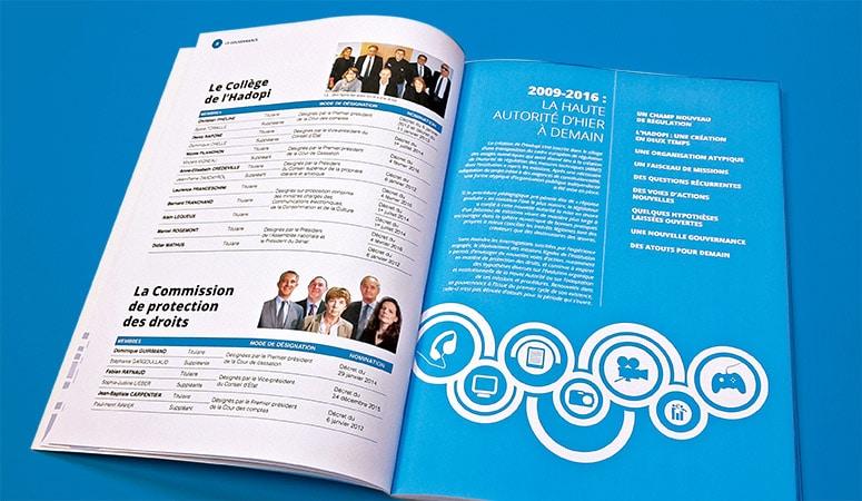 HADOPI : Conception de la charte graphique articulée autour d'une pictographie services - Agence Linéal