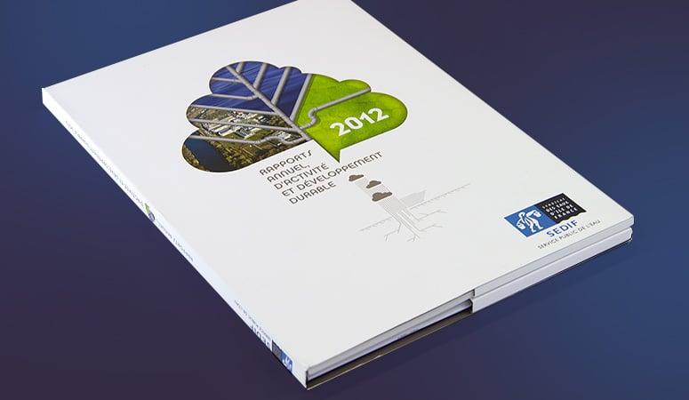 Création : édition – rapport – plaquette – dépliant – lettre – magazine – journaux pour SEDIF – Agence Linéal