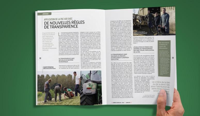 APCA : Élaboration de la ligne graphique du magazine de la Chambre d'Agriculture - Agence Linéal