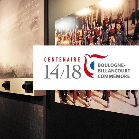 BOULOGNE-BILLANCOURT : Création d'un label pour le centenaire de la 1ère guerre mondiale pour la ville de Boulogne-Billancourt - Agence Linéal