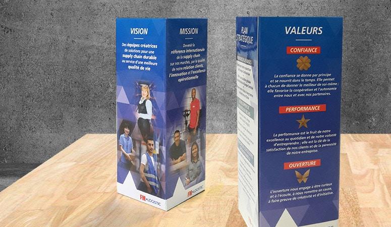 Création : concept – campagne – édition pour FM LOGISTIC – Agence Linéal