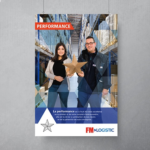 FM LOGISTIC : Conception d'une campagne de motivation interne autour des 3 valeurs de l'entreprise basé sur l'origami et la matière utilisée - Agence Linéal
