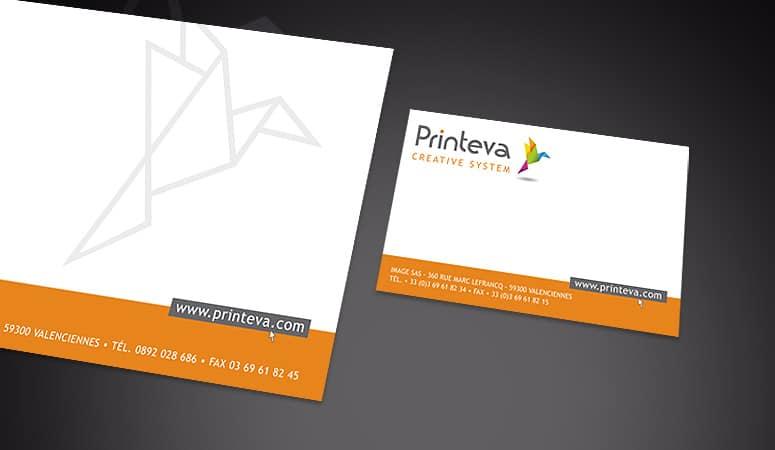 Création : logo – packaging pour PRINTEVA – Agence Linéal