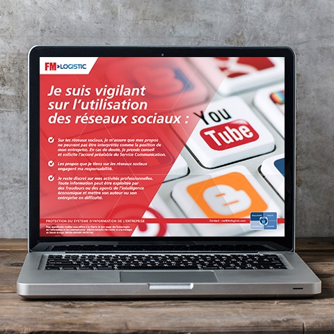 FM LOGISTIC : Conception d'une série d'écrans de veille- Agence Linéal