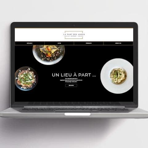 Création : Site web / Menus pour La Part des Anges : Agence Linéal