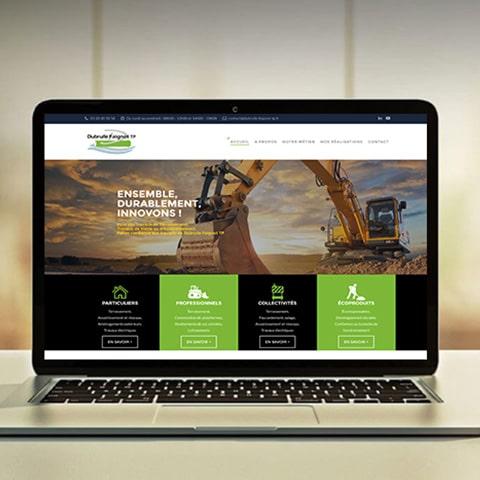 DUBRULLE : Un site vitrine avec l'ensemble des réalisations en travaux d'assainissement- Agence Linéal