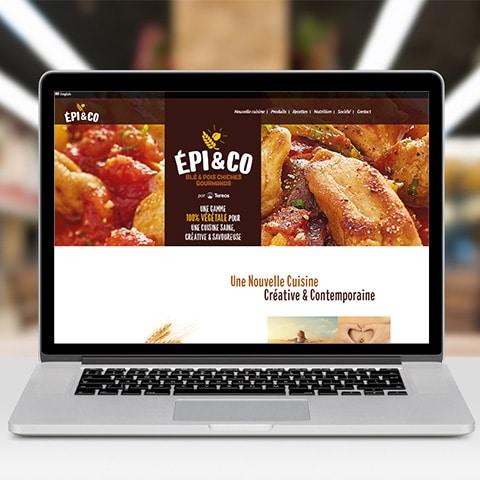EPI AND CO : Un site vitrine 100 % végétal- Agence Linéal