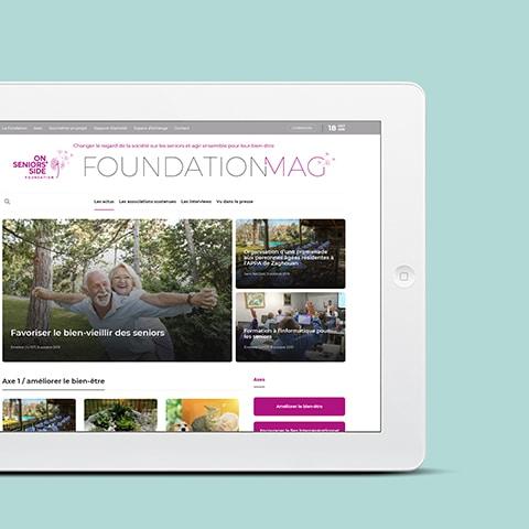 FONDATION DAMARTEX : La fondation Damartex se met en ligne pour faire connaître ses actions envers les seniors et diffuser les projets menés par ses filiales internationales - Agence Linéal