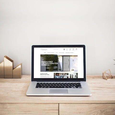 HOMEGA : Un site marchand avec l'ensemble des produits menuiseries référencés pour dynamiser un réseau de distributeurs national- Agence Linéal
