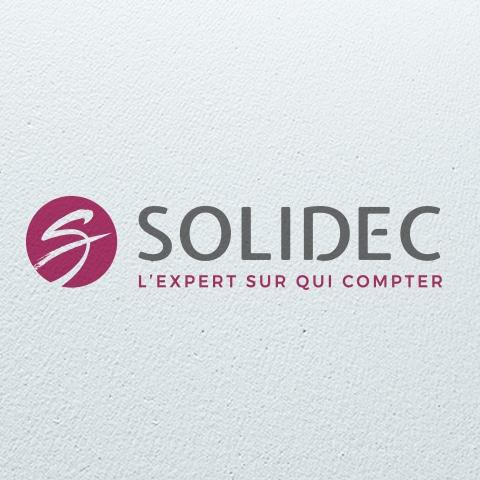 SOLIDEC : Avec la refonte graphique du logo, nous avons également proposé une baseline donnant du caractère à l'entreprise - Agence Linéal